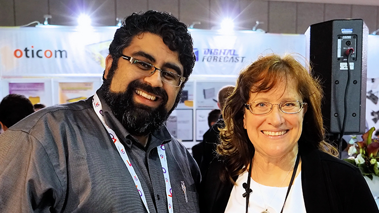 Ali Ahmadi of Lite Panels with BuZZ Producer Cirina Catania