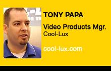 2011 NAB Show - Tony Papa, Cool-Lux