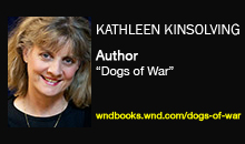 "Kathleen Kinsolving, Author, ""Dogs of War"""
