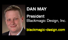 Digital Production Buzz - Dan May, Blackmagic Design, Inc.