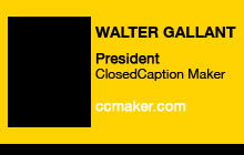 2011 GV Expo - Walter Gallant, ClosedCaption Maker